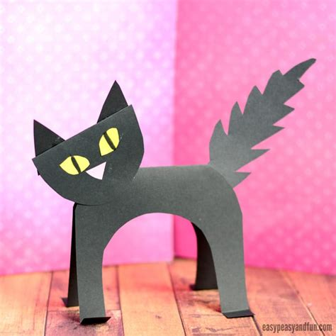 Black Craft Paper - simple black cat paper craft easy peasy and