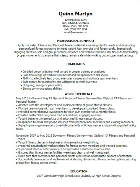 personal trainer resume format professional fitness and personal trainer templates to showcase your talent myperfectresume