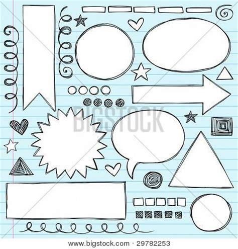 paper design elements 25 vector sketchy frames and borders hand drawn notebook doodles set