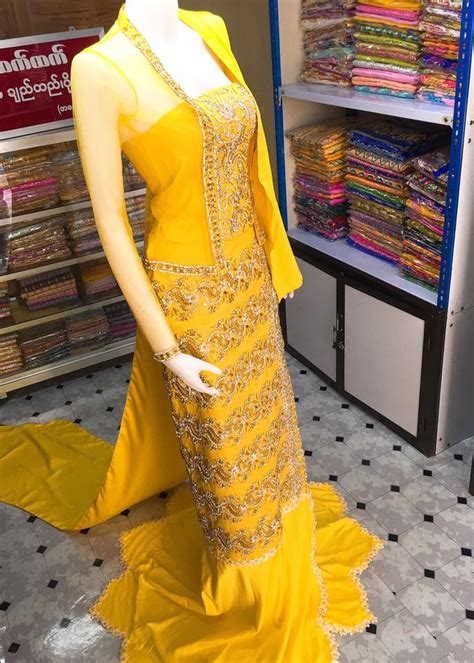 Wedding Dress Yangon by Htet Htet Myanmar Traditional Wedding Dress Yangon