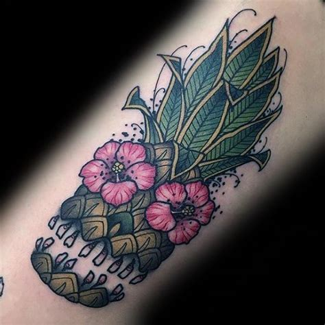 60 pineapple tattoo designs for men tropical fruit ideas