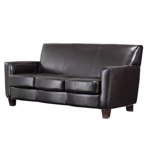 nolan sofa threshold nolan bonded leather living room sofa target