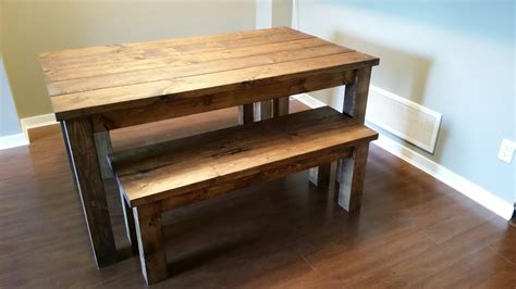 Dining Table Set With Bench Benches Dining Tables Robthebenchguy
