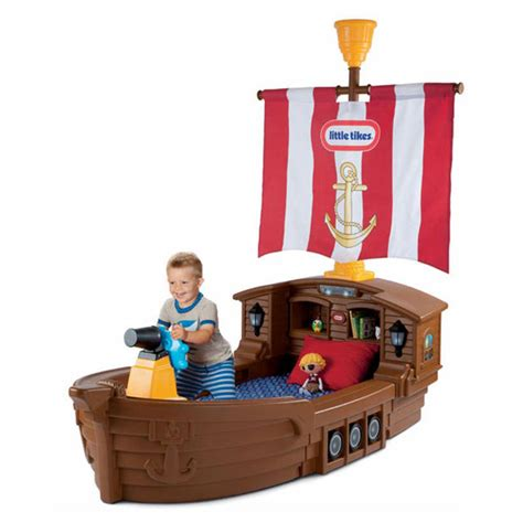 Pirate Ship Toddler Bed by Tikes Pirate Ship Toddler Bed Babycenter