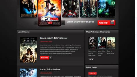 templates for movie website movie website template youtube