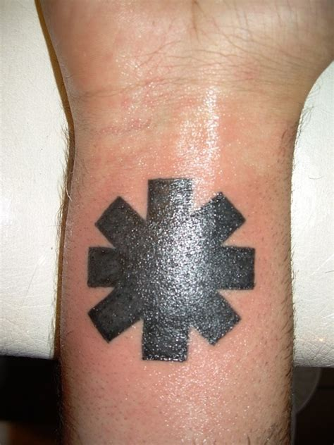 rhcp logo tattoo on my wrist red hot chili peppers logo tattoo picture at