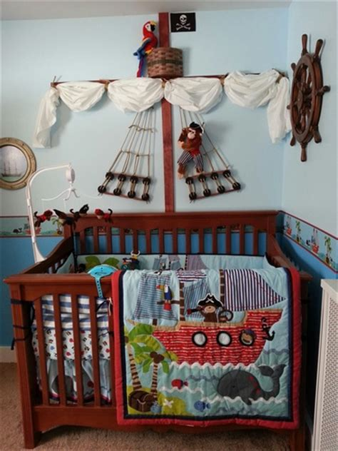 pirate baby bedding amazon com treasure island 4 piece baby crib bedding set