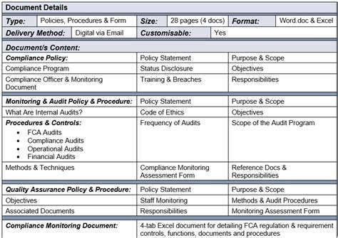 compliance monitoring report template compliance monitoring quality assurance audit set your compliance