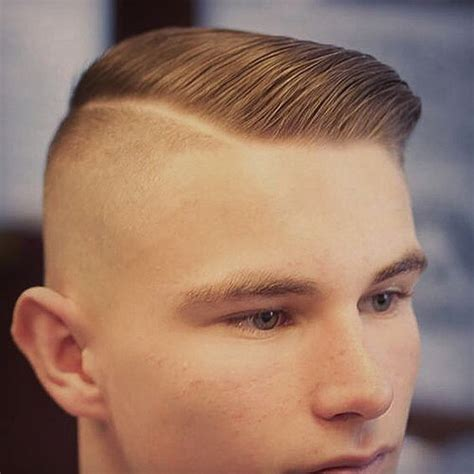shaved part haircut men bold disconnecthairstyle with shaved side part hipster