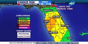 tornadoes possible overnight in central south florida