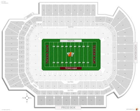 kyle field section map kyle field texas a m seating guide rateyourseats com