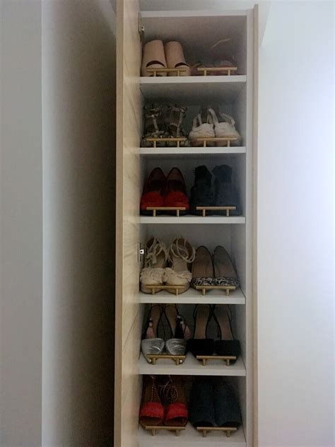 shoe cabinet diy a shoe cabinet to fit small entryways ikea