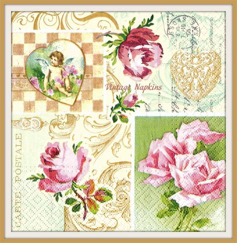 Decoupage Pictures For Sale - sale two paper napkins for decoupage vintage by vintagenapkins