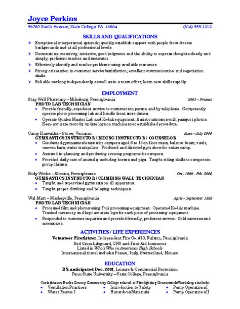 Great Resume Exles For College Students 10 Resume Exles College Students Invoice Template