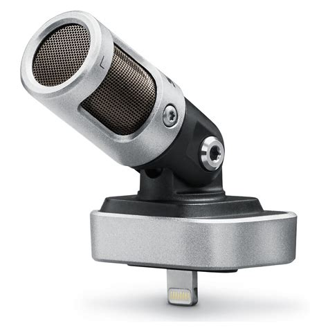 iphone microphone shure mv88 motiv stereo condenser microphone for iphone ipod at gear4music