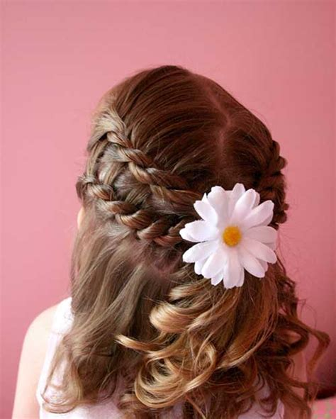 flower girl hairstyles half up half down 15 flower girl hairstyles long hairstyles 2016 2017