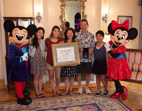 Disney Park Sweepstakes - first white diamond prize presented to disneyland diamond days winner at disneyland
