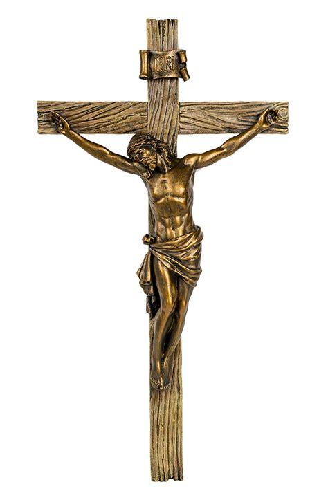 The Crucifix by Wood Inspired Bronze Wall Cross Crucifix Jesus