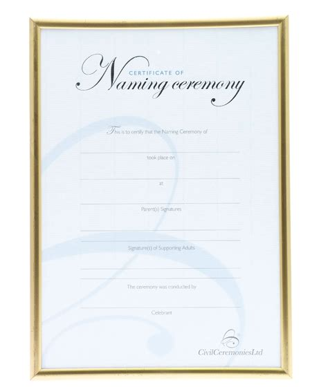 naming certificates free templates silver naming ceremony certificate boy gt ceremony
