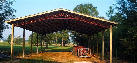 Gambrel Pole Barn pole barn truss systems gable lean to and gambrel trusses