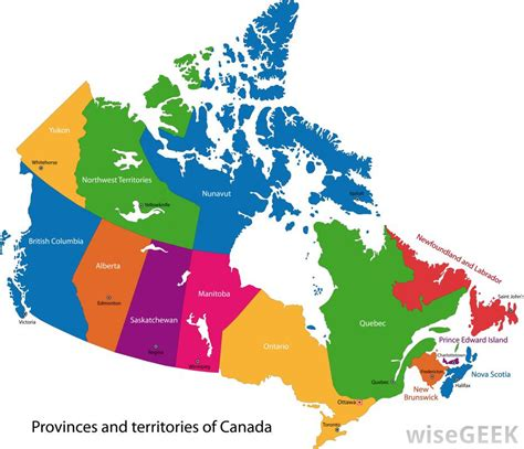 canadian map of provinces and territories how many provinces does canada with pictures