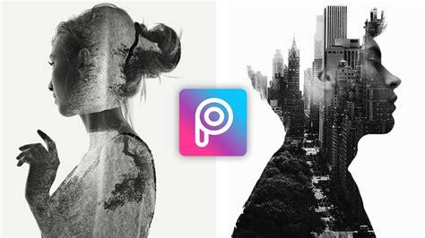 tutorial double exposure di picsart cara edit foto double exposure di picsart terbaru