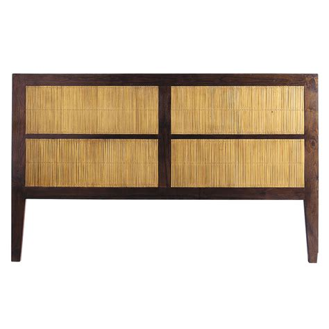 Solid Headboard by Solid Teak And Stained Bamboo Headboard W 160cm Bamboo