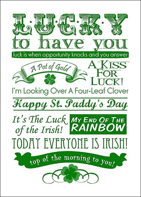 printable irish quotes free st patrick day printables and subway art
