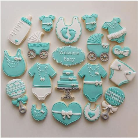 Cookie Baby Shower Decorations by Best 25 Blue Cakes Ideas On Turquoise