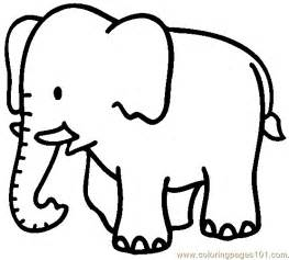 elephant coloring page 04 coloring page free elephant coloring pages coloringpages101 com