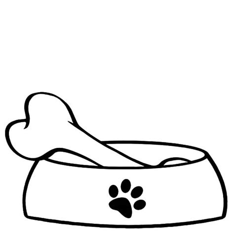 coloring page dog bone bowl coloring page clipart best