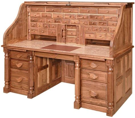 solid wood roll out desk amish president s style roll top desk furniture style