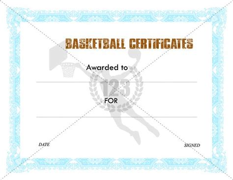 awesome basketball certificates templates free download