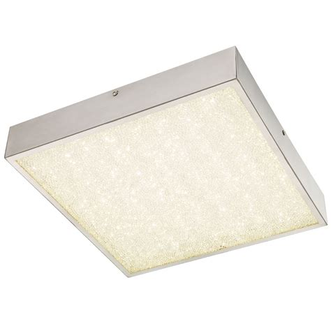 Rectangular Ceiling Light 18 Watt Led Ceiling Light Crystals Light Rectangular Globo 49226 18 Ls Lighting Interior