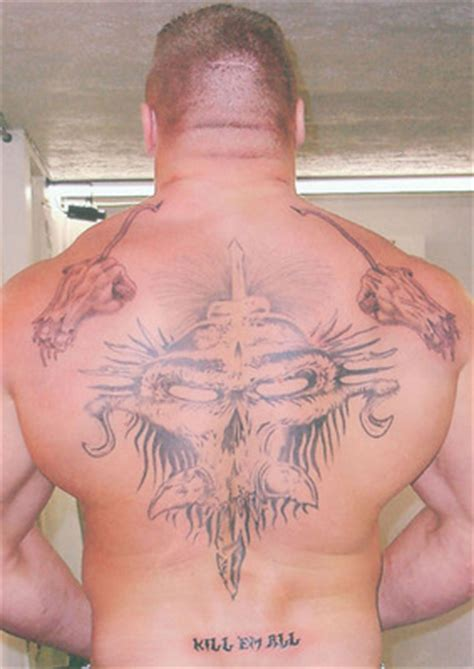 brock lesnar back tattoo the best tattoos in history bleacher report