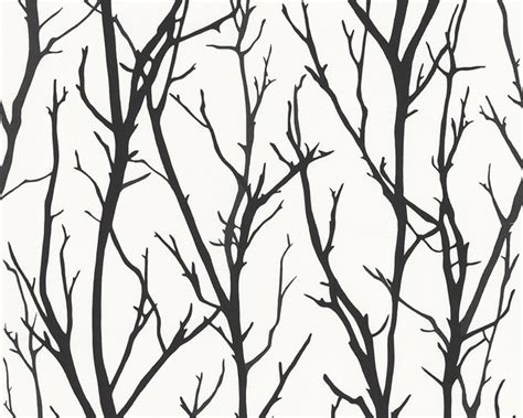black and white contemporary wallpaper branch wallpaper contemporary wallpaper by