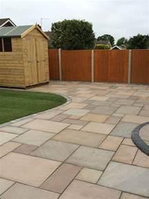 raj green sandstone paving garden paving slabs