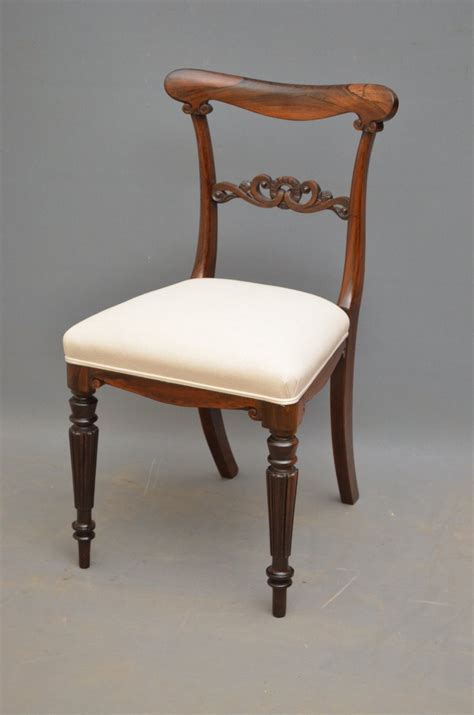 superb set of six regency rosewood dining chairs