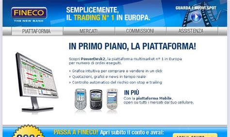 fineco on line trading on line fineco
