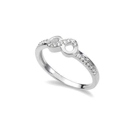 925 sterling silver cz eternity infinity ring uk