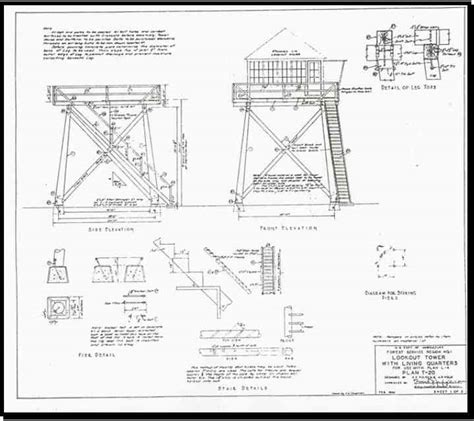 observation tower plans backcountry historic structures report lookouts