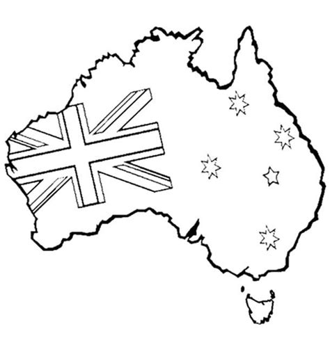 Australia Day Coloring Pages australia day coloring page for the kiddies australia