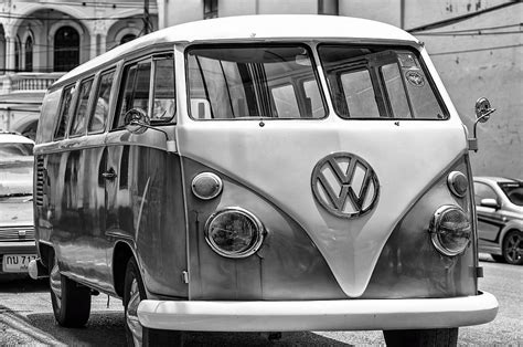 steve jobs volkswagen vw van in black and white photograph by georgia fowler