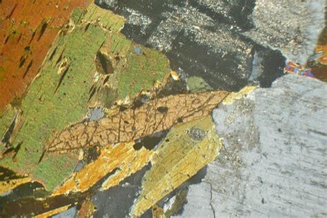 diorite thin section strontian granodiorite scotland thin section microscope