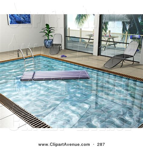 swimming pool chaise lounge avenue clipart of a purple floating lounger in an indoor