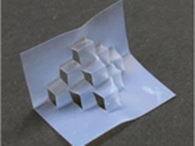 Self Folding Paper - self folding origami chemviews magazine chemistryviews