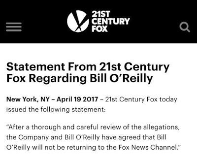 Bill O Reilly Criminal Record Sexual Harassment Verbal Abuse Fox News Cuts Ties With Bill O Reilly