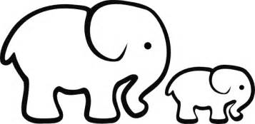 elephant clipart outline clipartsgram com