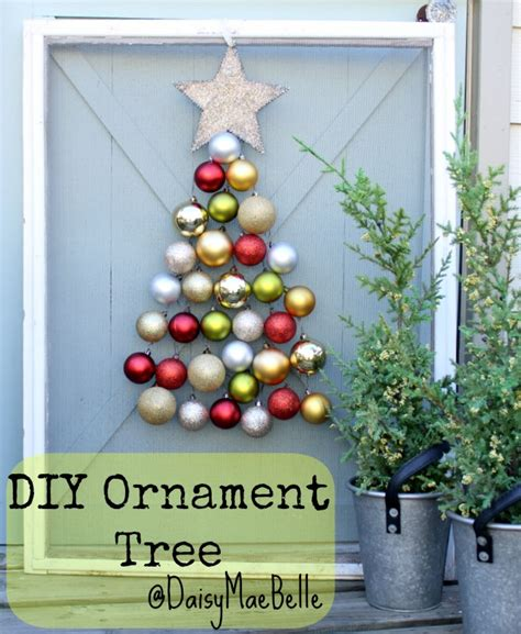 christmas tree made out of ornaments ornament tree daisymaebelle daisymaebelle