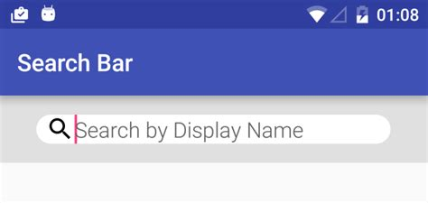 search bar android create rounded textedit input box android